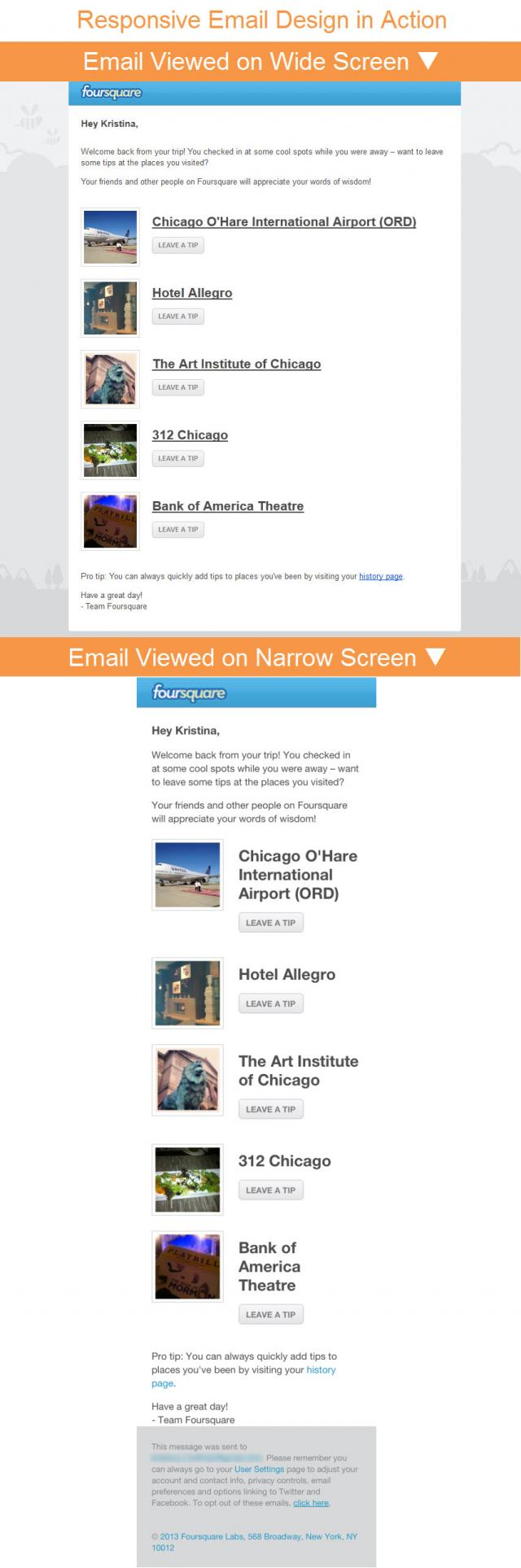 View this Foursquare email on Pinterest