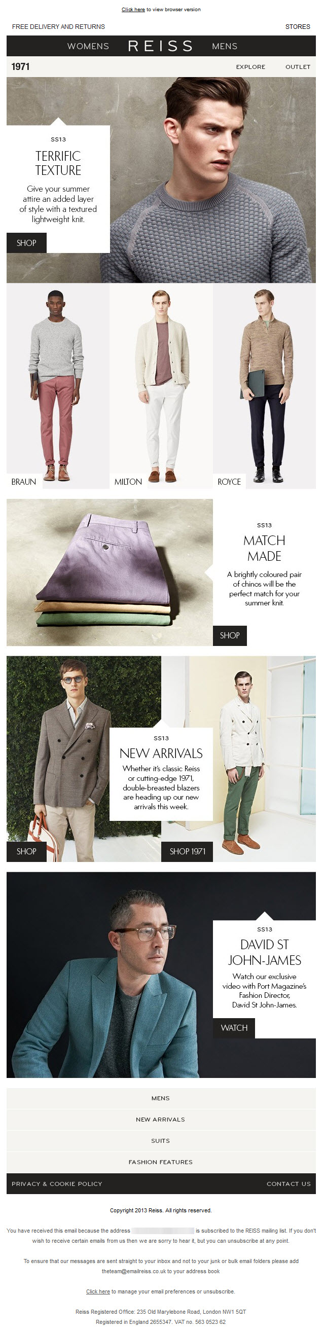 View this Reiss email on Pinterest >>