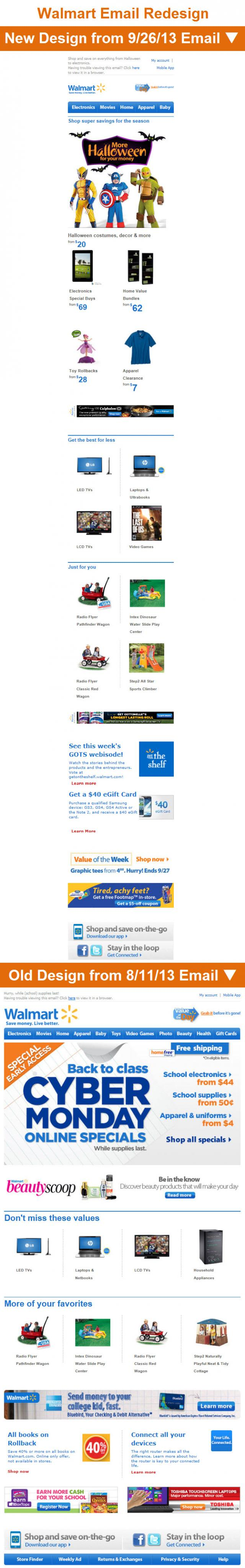 Walmart Email Redesign