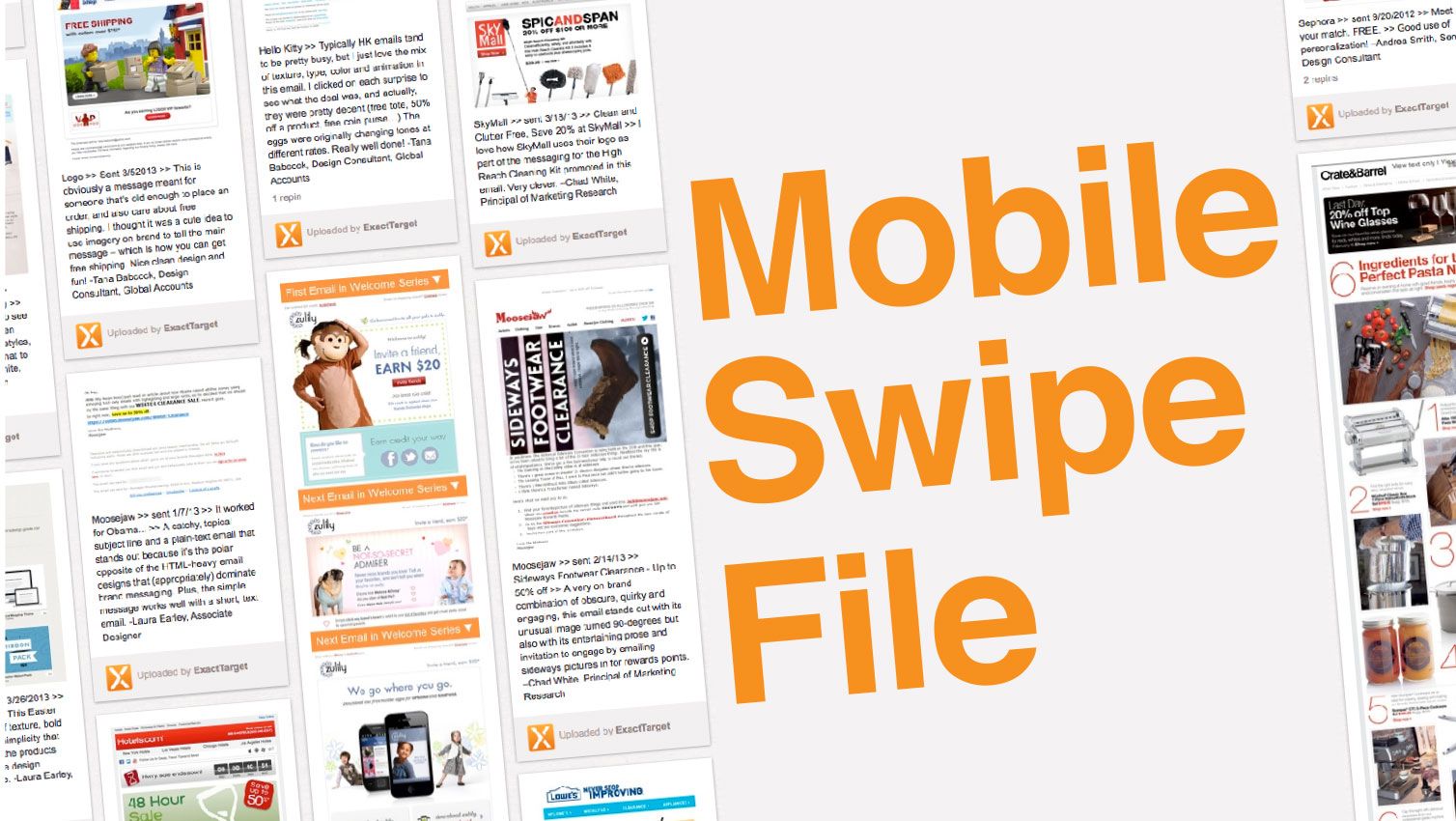 Get Inspired by the NEW Mobile Swipe File