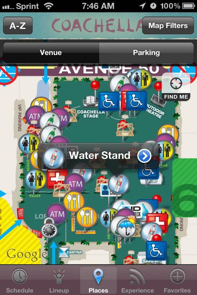 coachella mobile app interactive map